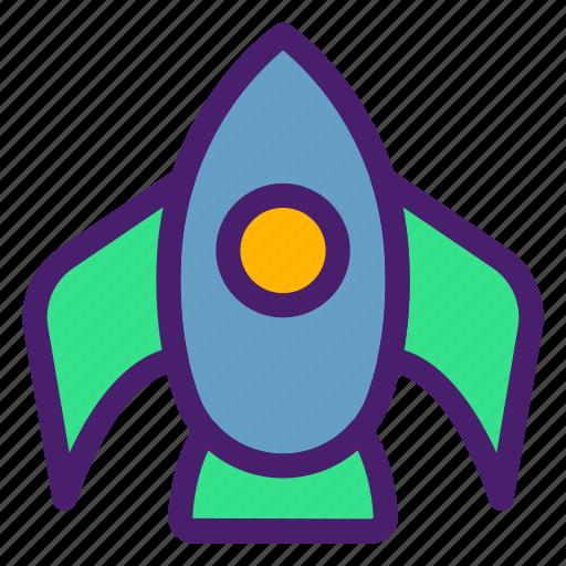 astronomy, galaxy, plane, rocket, space, spaceship, universe icon