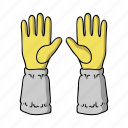 apiary, beekeeper, beekeeping, gloves, protection icon