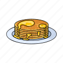 apiary, beekeeping, dessert, dish, food, honey, pancakes icon
