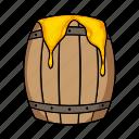 apiary, barrel, beekeeping, honey, wooden