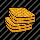 apiary, beekeeping, honey, honeycombs, wax icon