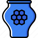 apiary, apiculture, bee, honey, jar icon