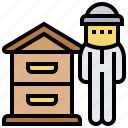 apiary, apiculture, beekeeper, hives, honey icon