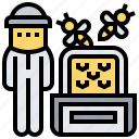 apiarist, apiculture, beekeeper, honeybee, protection icon