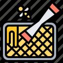 beekeeper, beeswax, honeycomb, scraper, tools icon
