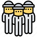 beekeeper, danger, protection, safety, suit icon