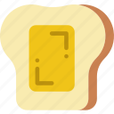 apiary, apiculture, bee, bread, honey, on icon
