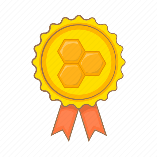 badge, cartoon, food, honey, label, quality, sign icon