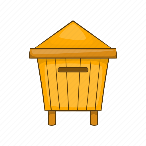 beehive, cartoon, hexagon, honey, product, sign, sweet icon