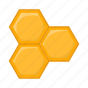 bee, cartoon, hexagon, honey, honeycomb, product, sign icon