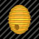 beehive, cartoon, hexagon, honey, product, round, sign icon
