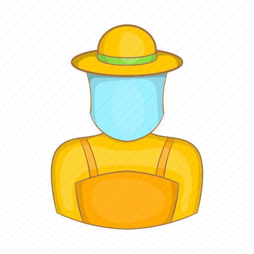 agriculture, apiary, bee, beekeeper, cartoon, honey, sign icon
