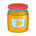 cartoon, food, glass, honey, jar, sign, sweet