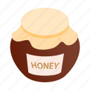 bank, food, gold, honey, honeycomb, isometric, sweet icon