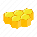bee, hexagon, hive, honey, honeycomb, isometric, nature icon