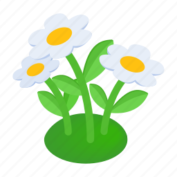 flower, garden, isometric, natural, nature, outdoor, plant icon