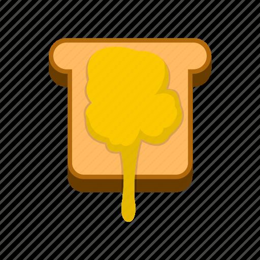 breakfast, delicious, food, healthy, honey, tasty, toast icon
