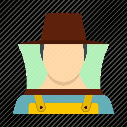 adult, bee, beekeeper, employment, hat, honey, honeycomb icon