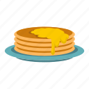 breakfast, diet, food, fried, meal, pancakes, sweet icon