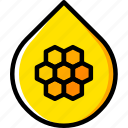 apiary, apiculture, bee, drop, honey icon