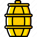 apiary, apiculture, barrel, bee, honey icon
