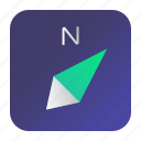 aplication, arrows, compass, direction, navigation