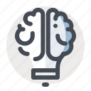 brain, business, finance, idea, innovation, lamp, think icon