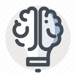 brain, business, finance, idea, innovation, lamp, think icon