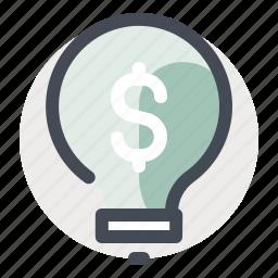 business, dollar, economy, finance, idea, innovation, thinking icon
