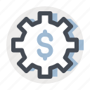 accounting, business, configuration, dollar, exchange, finance, setting icon