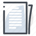accounting, business, document, dollar, file, finance, paper icon