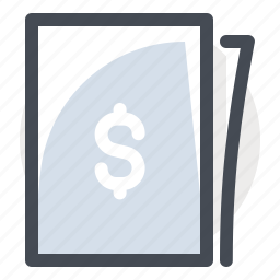 accounting, business, cash, dollar, finance, money, paper icon