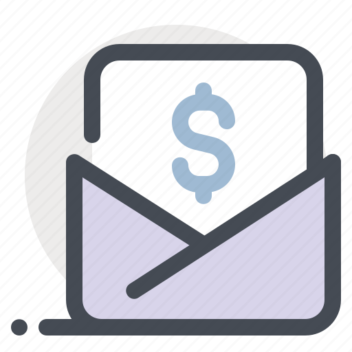business, communication, email, letter, mail, money, promotion icon