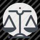 balance, business, dollar, economy, equal, ethics, law icon