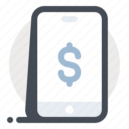 dollar, ecommerce, mobile, money, online payment, shopping, transaction icon