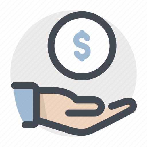 care, cash, dollar, donation, finance, money, money in hand icon