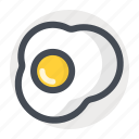 breakfast, egg, food, fried, nonveg, omelette, scramble icon