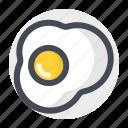 breakfast, egg, food, fried, nonveg, omelette, scramble icon