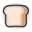 bread, breakfast, brunch, food, lunch, sandwich, toast icon