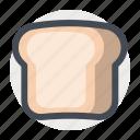 bread, breakfast, brunch, food, lunch, sandwich, toast icon