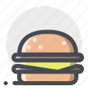 burger, cheese, eat, fast food, food, hamburger, mcdonald icon