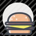 burger, cheese, eat, fast food, food, hamburger, mcdonald icon