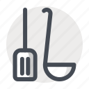 cook, cooking, kitchen, scoop, shovel, utensil, vessel icon