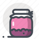 bottle, dessert, food, jam, jar, kitchen, sweet icon
