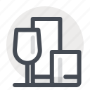 crystal, glass, kitchen, restaurant, serving, tableware, utensil icon