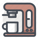 coffee, electronics, equipment, espresso, fast, kitchen, maker icon