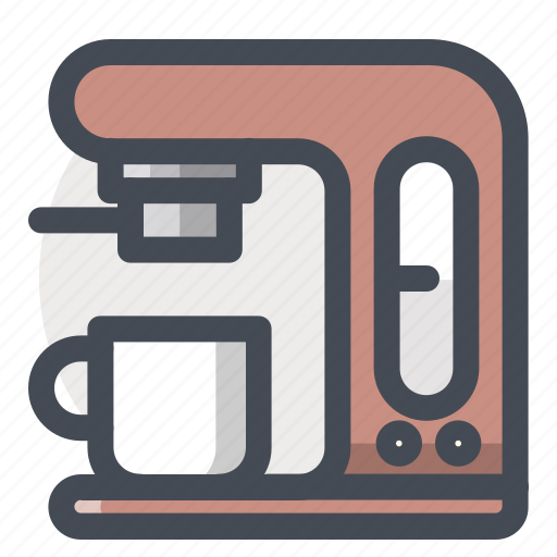 coffee, electronics, equipment, espresso, fast, kitchen, maker icon