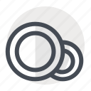 cleaning, dish, dishes, eating, food, plates, utensils icon
