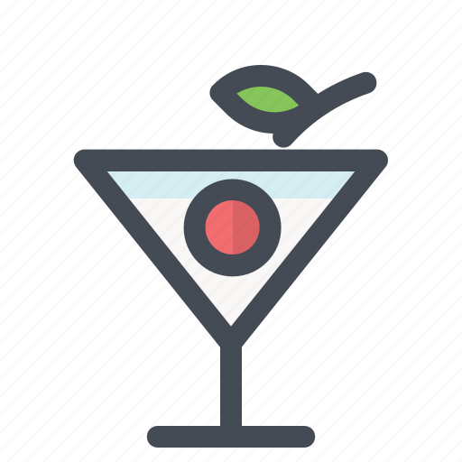 bar, beverages, cherry, drink, glass, juice, restaurant icon