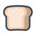 bread, breakfast, food, restaurant, sandwich, toast icon
